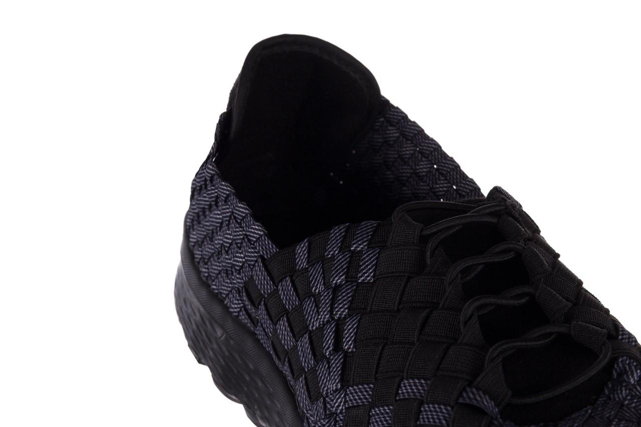 Trampki rock haneda men black ratan, granat/ czarny, materiał - sale - buty męskie - mężczyzna 12