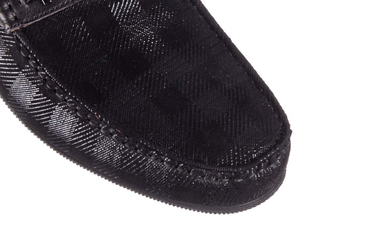 Mokasyny john doubare 628a-3-h04x czarny, skóra naturalna  - brooman - nasze marki 12