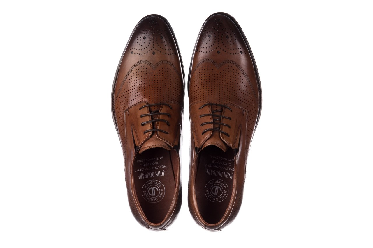 Półbuty john doubare db19-314-c79 brązowy, skóra naturalna - półbuty - buty męskie - mężczyzna 11