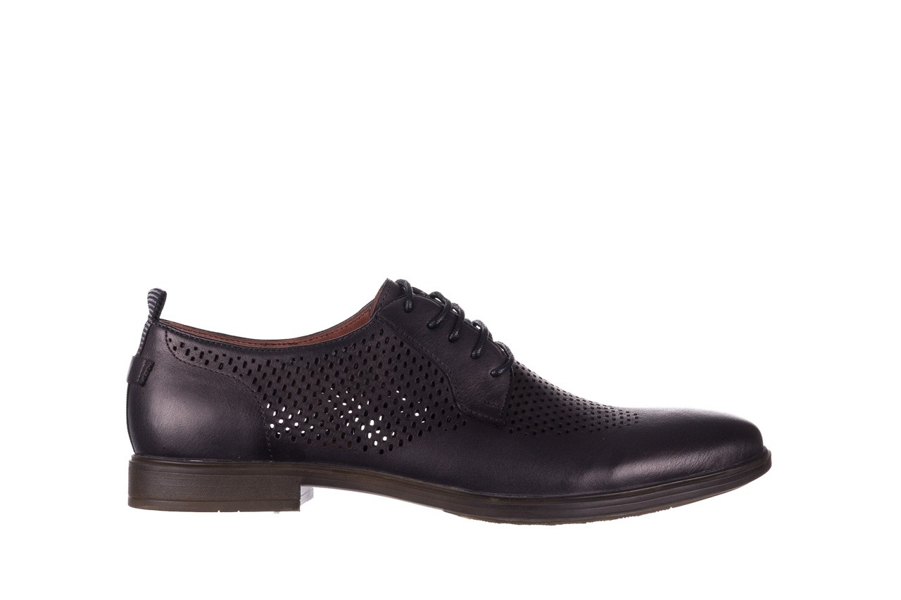 Półbuty john doubare a025-11 szary/ czarny, skóra naturalna  - sale - buty męskie - mężczyzna 7