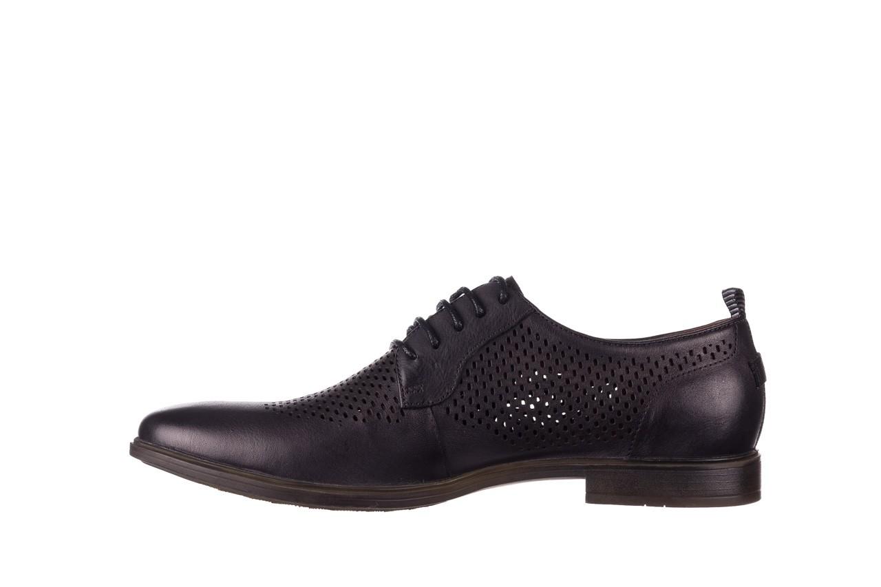 Półbuty john doubare a025-11 szary/ czarny, skóra naturalna  - sale - buty męskie - mężczyzna 9