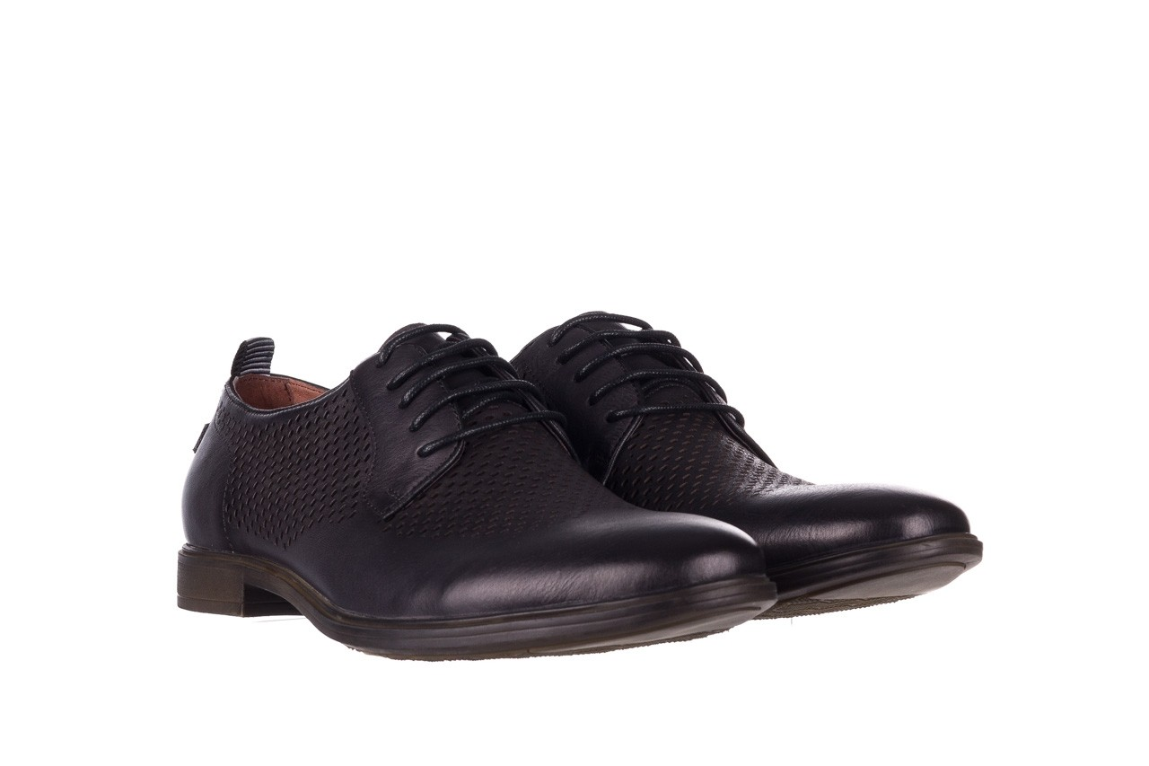 Półbuty john doubare a025-11 szary/ czarny, skóra naturalna  - sale - buty męskie - mężczyzna 8