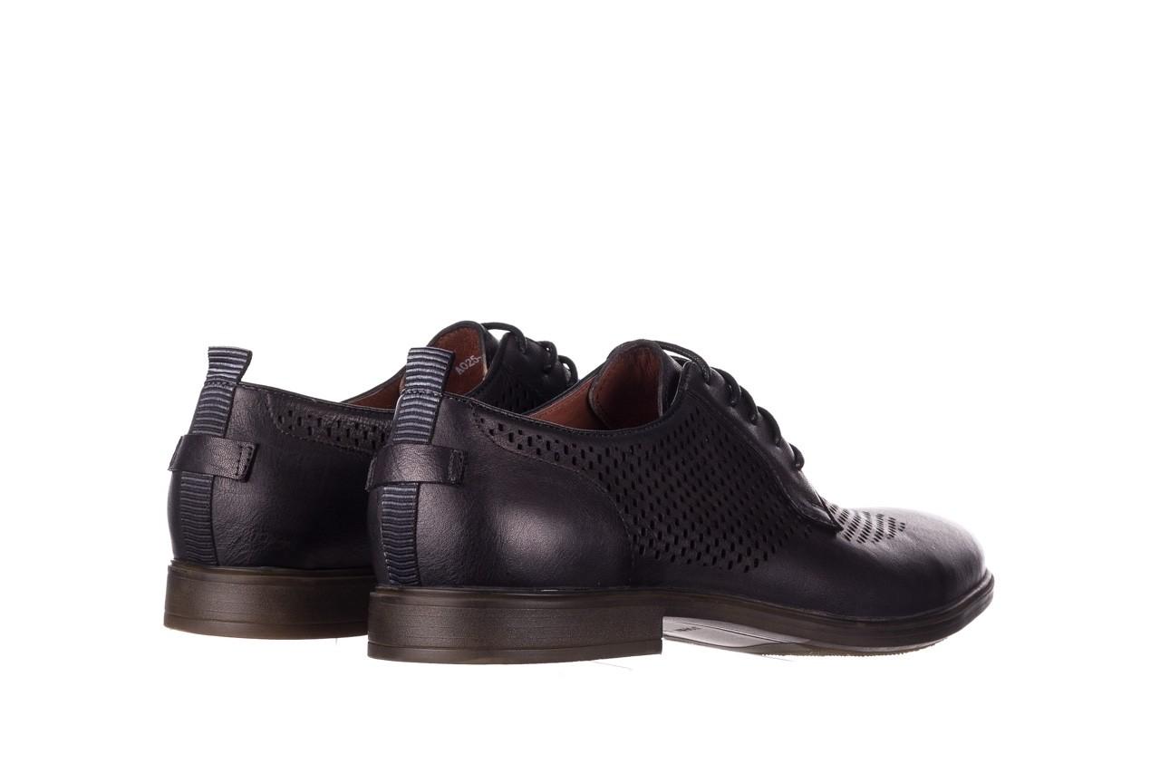 Półbuty john doubare a025-11 szary/ czarny, skóra naturalna  - sale - buty męskie - mężczyzna 10