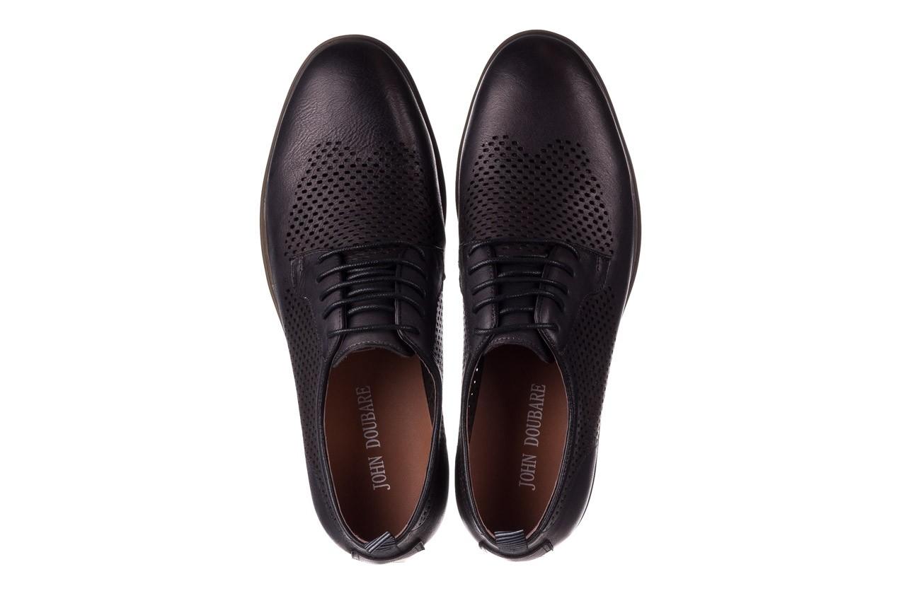 Półbuty john doubare a025-11 szary/ czarny, skóra naturalna  - sale - buty męskie - mężczyzna 11