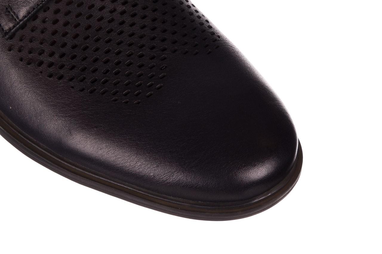 Półbuty john doubare a025-11 szary/ czarny, skóra naturalna  - sale - buty męskie - mężczyzna 12
