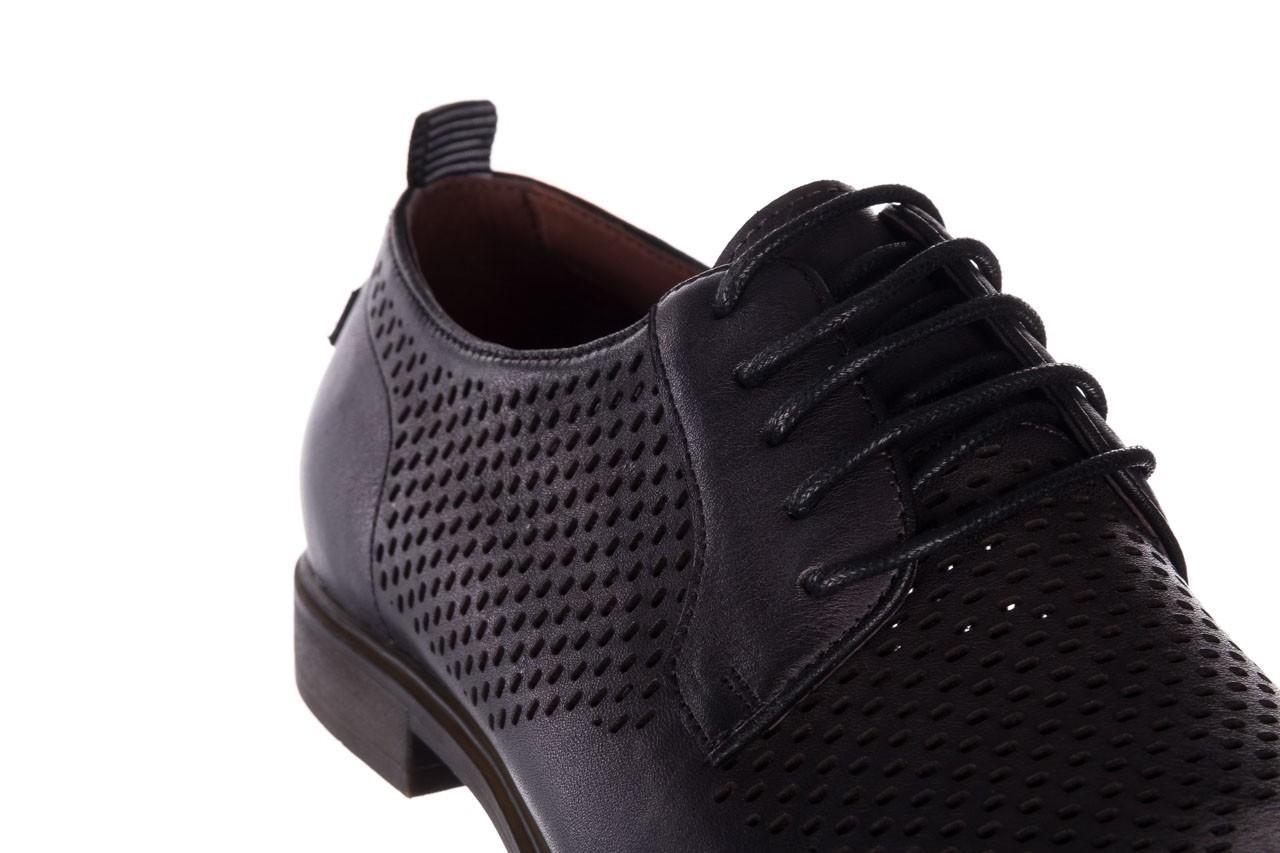 Półbuty john doubare a025-11 szary/ czarny, skóra naturalna  - sale - buty męskie - mężczyzna 13