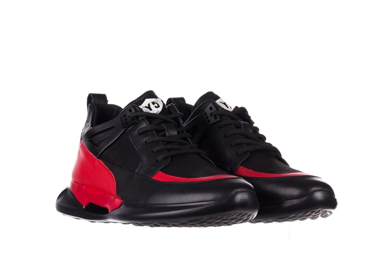 Trampki john doubare f858-1 czarny, skóra naturalna  - wysokie - trampki - buty męskie - mężczyzna 10