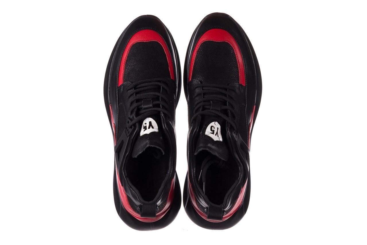 Trampki john doubare f858-1 czarny, skóra naturalna  - wysokie - trampki - buty męskie - mężczyzna 13
