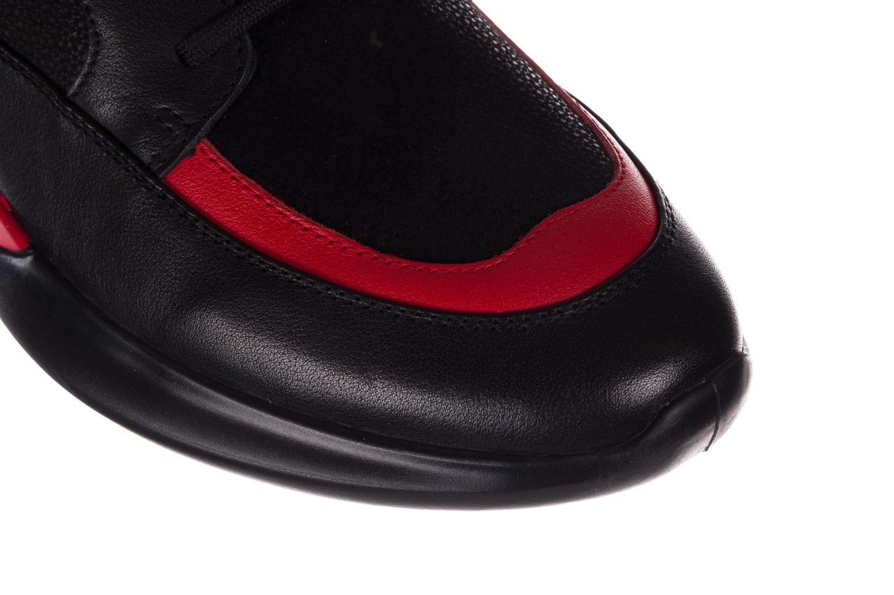 Trampki john doubare f858-1 czarny, skóra naturalna  - wysokie - trampki - buty męskie - mężczyzna 14