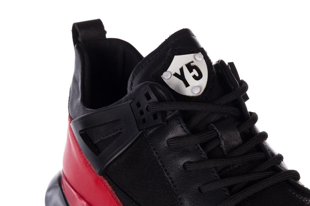 Trampki john doubare f858-1 czarny, skóra naturalna  - wysokie - trampki - buty męskie - mężczyzna 15
