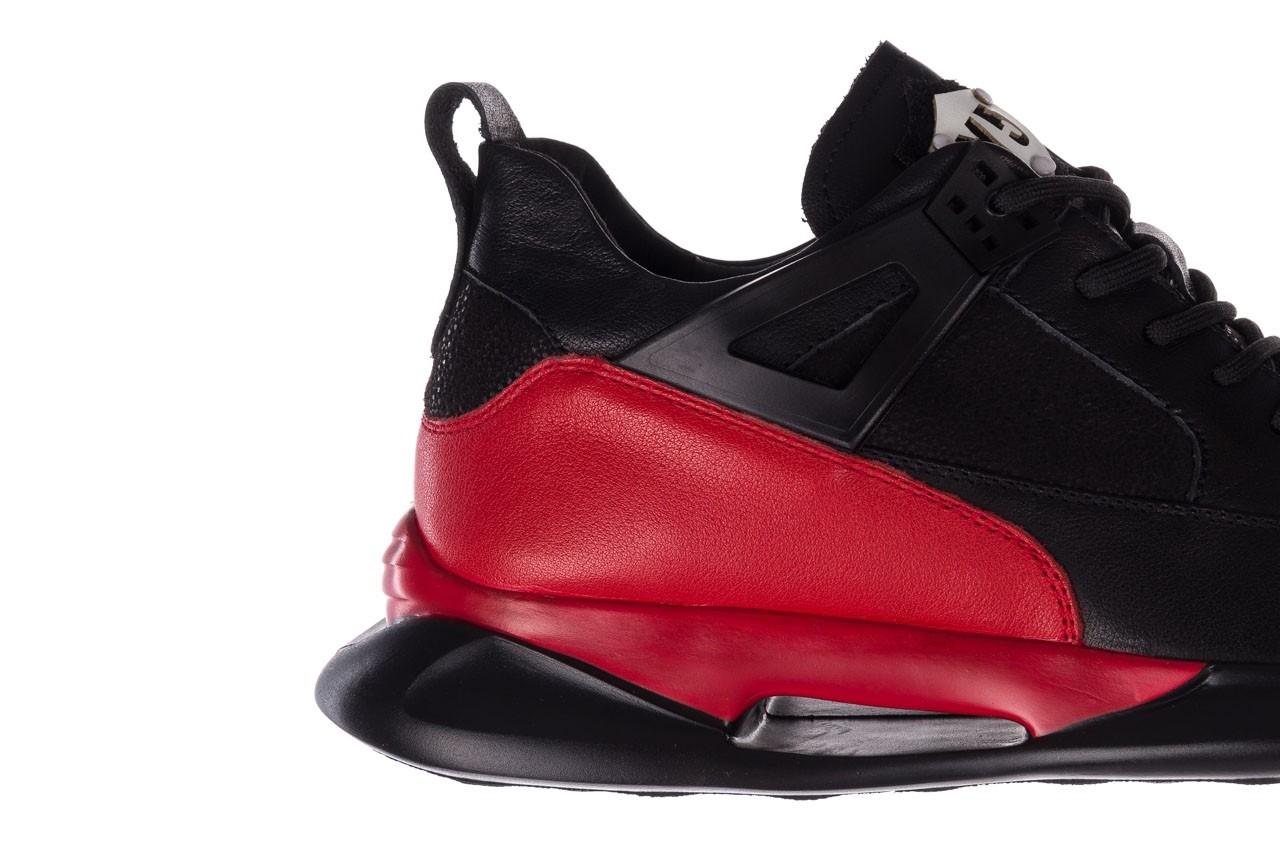 Trampki john doubare f858-1 czarny, skóra naturalna  - wysokie - trampki - buty męskie - mężczyzna 16