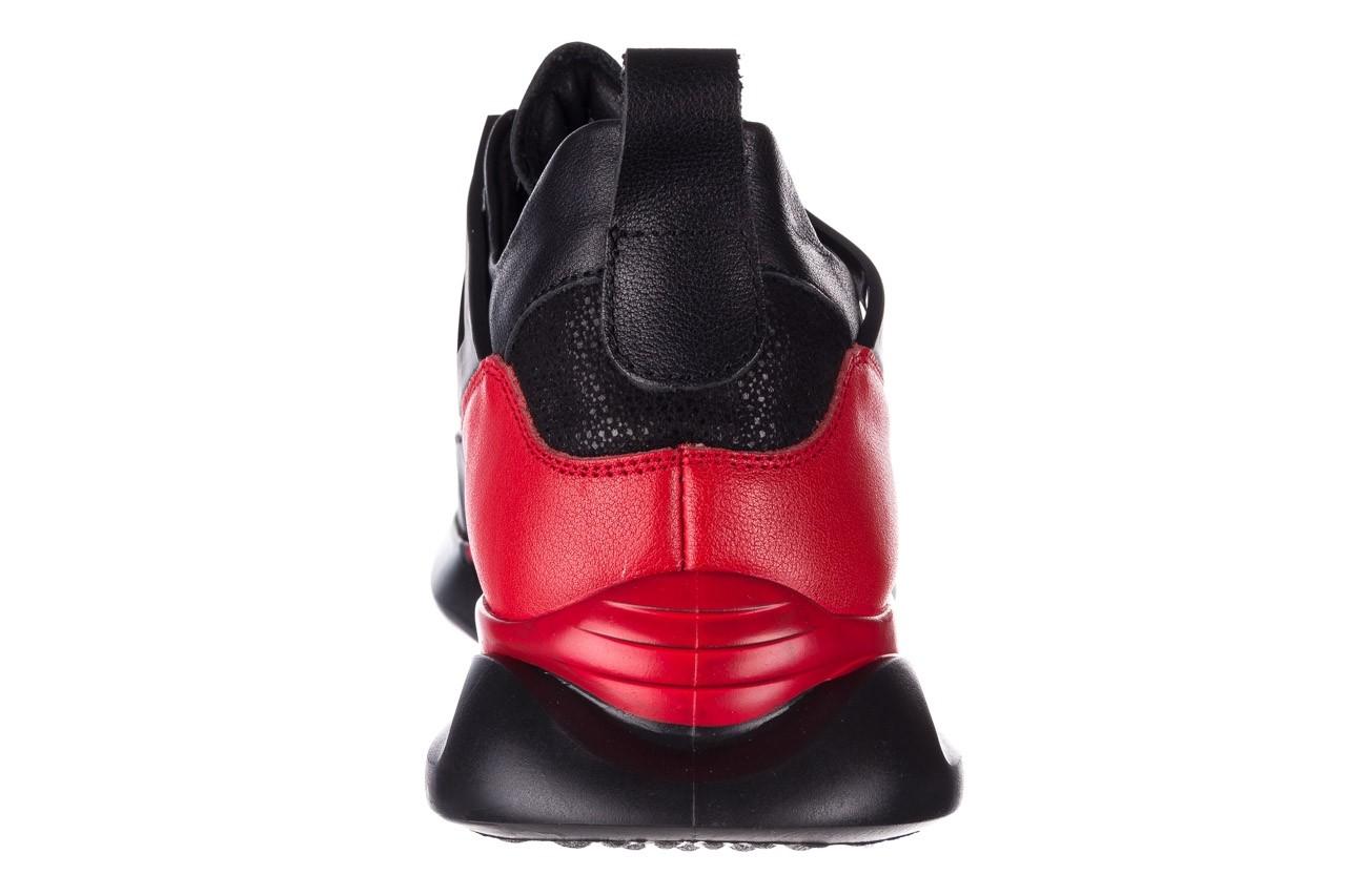 Trampki john doubare f858-1 czarny, skóra naturalna  - wysokie - trampki - buty męskie - mężczyzna 17