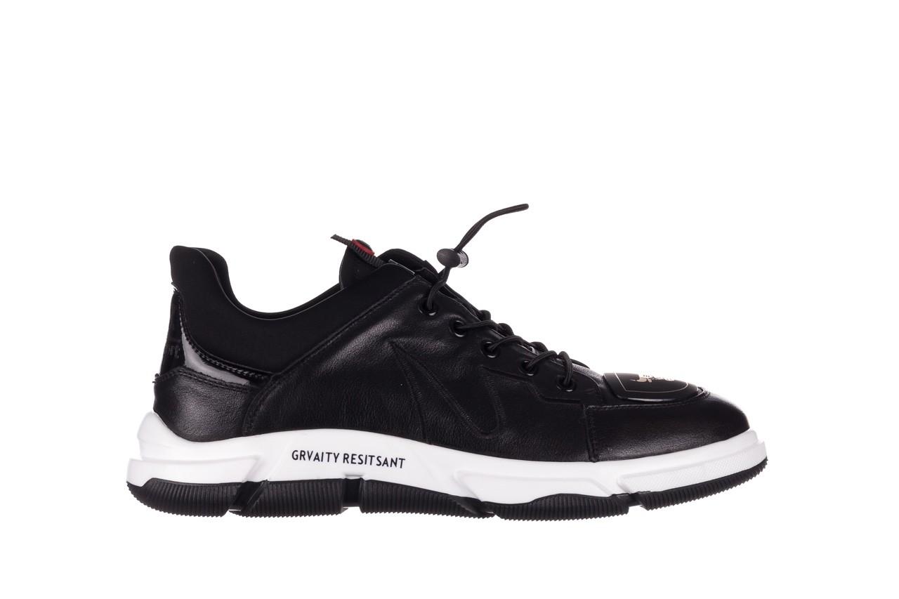 Trampki john doubare f1808-1 czarny, skóra naturalna  - niskie - trampki - buty męskie - mężczyzna 9