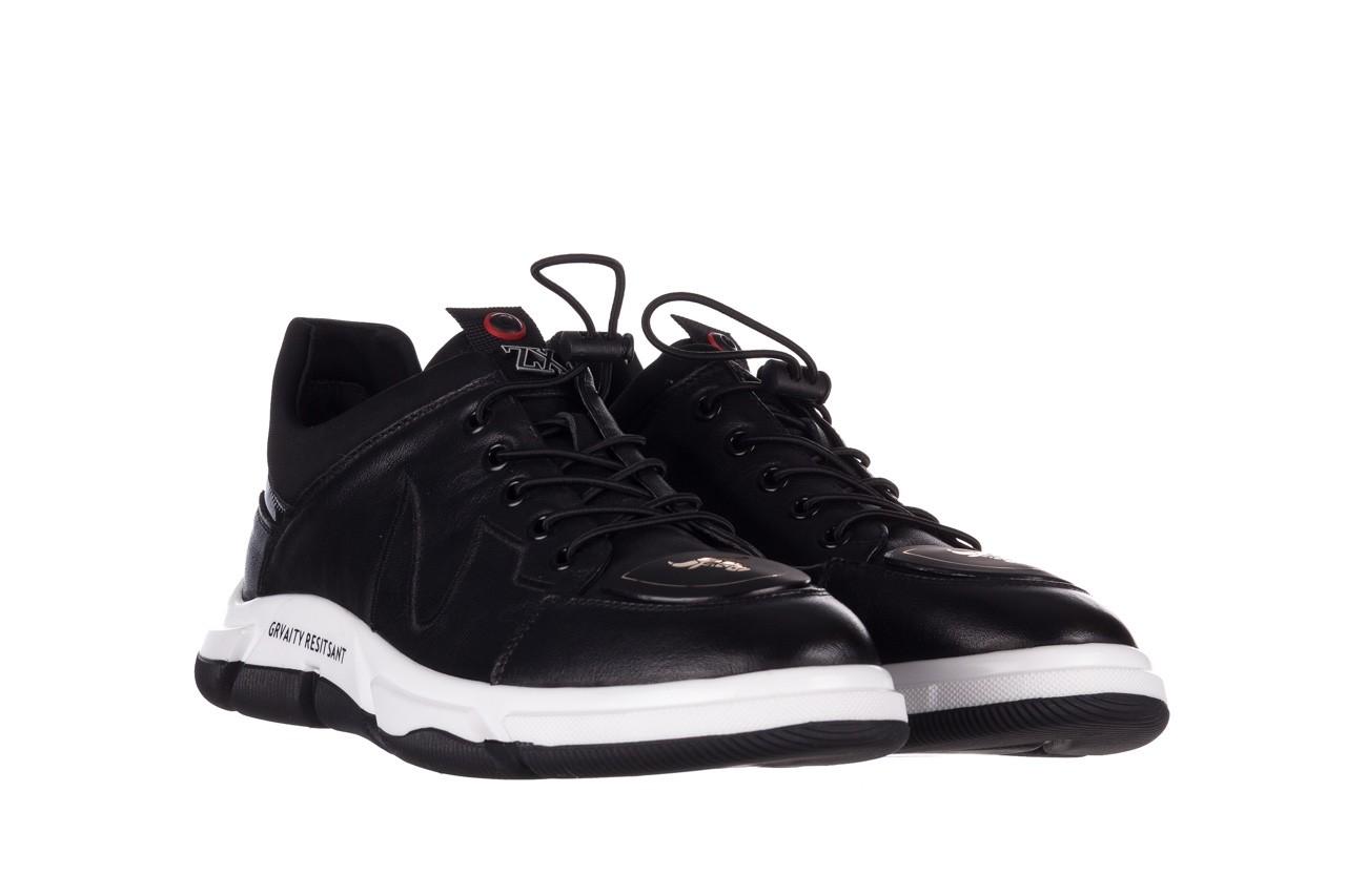 Trampki john doubare f1808-1 czarny, skóra naturalna  - niskie - trampki - buty męskie - mężczyzna 10