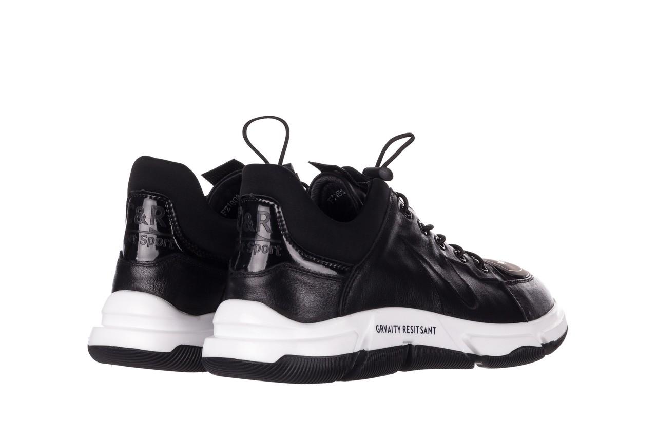 Trampki john doubare f1808-1 czarny, skóra naturalna  - niskie - trampki - buty męskie - mężczyzna 12