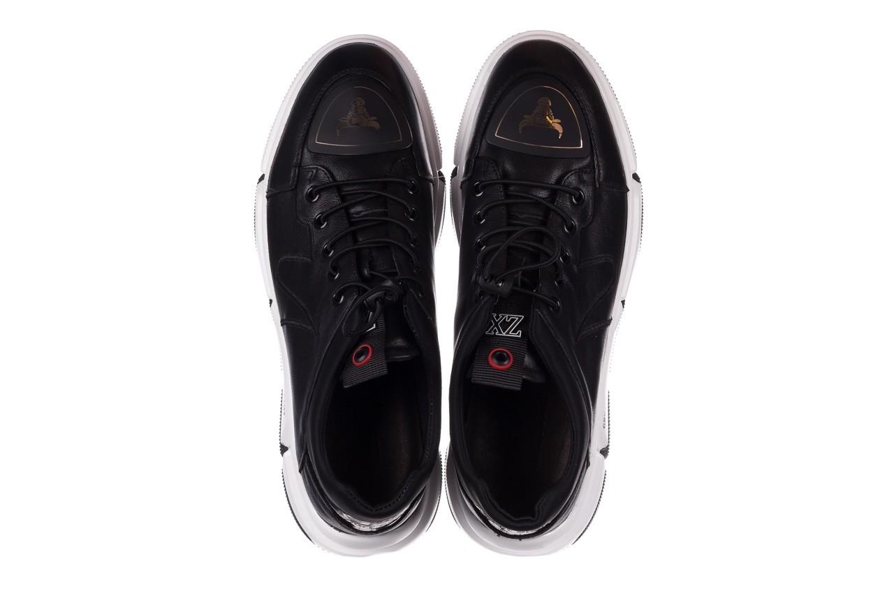 Trampki john doubare f1808-1 czarny, skóra naturalna  - niskie - trampki - buty męskie - mężczyzna 13