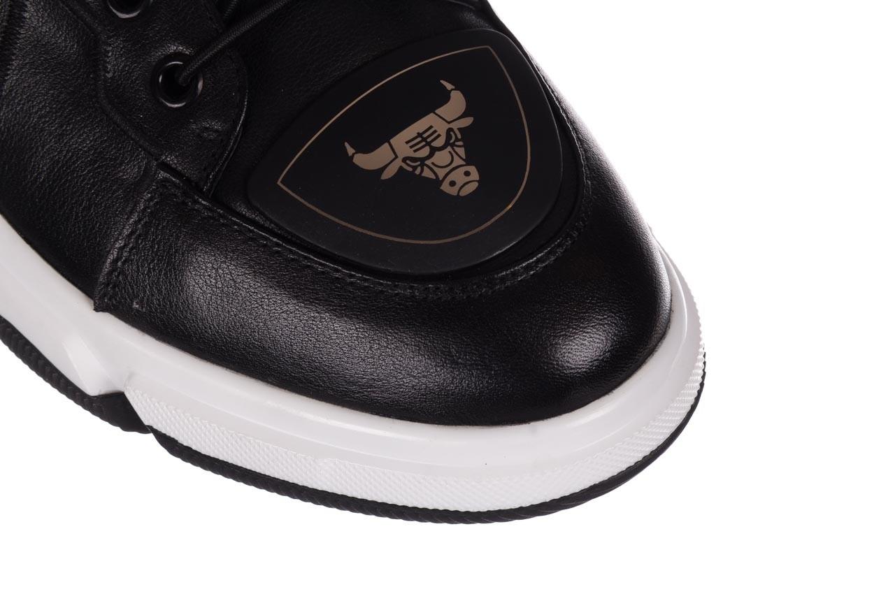 Trampki john doubare f1808-1 czarny, skóra naturalna  - niskie - trampki - buty męskie - mężczyzna 14