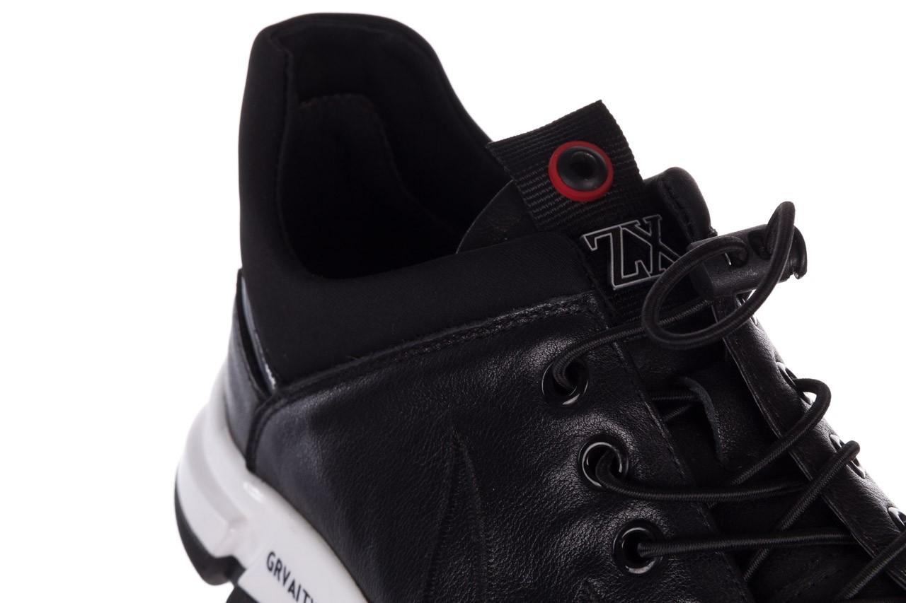 Trampki john doubare f1808-1 czarny, skóra naturalna  - niskie - trampki - buty męskie - mężczyzna 15