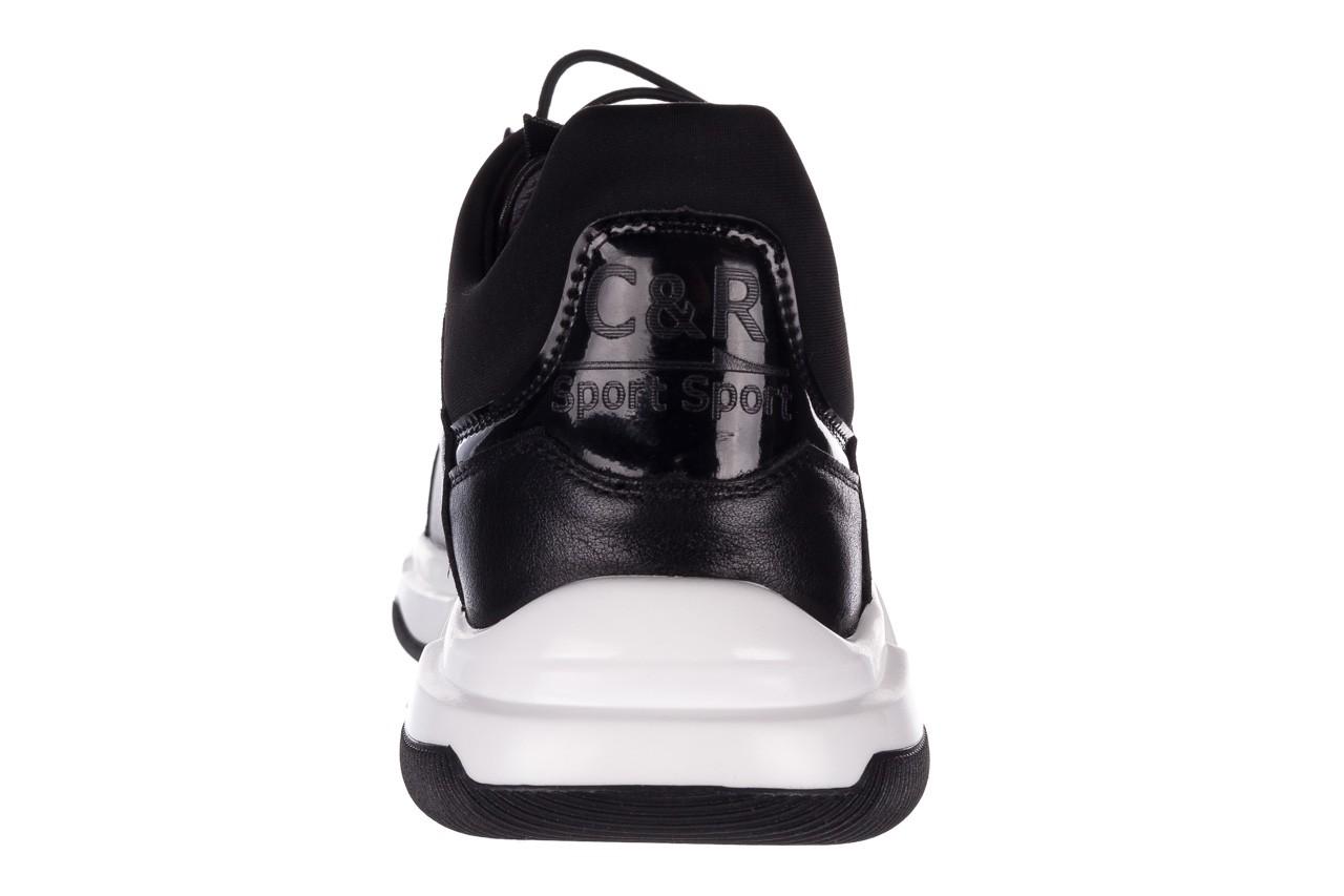 Trampki john doubare f1808-1 czarny, skóra naturalna  - niskie - trampki - buty męskie - mężczyzna 17
