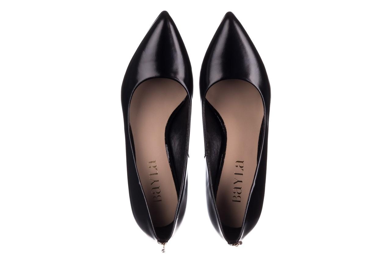 Szpilki bayla-056 7064-1278 czarny lico, skóra naturalna  - czółenka - buty damskie - kobieta 10