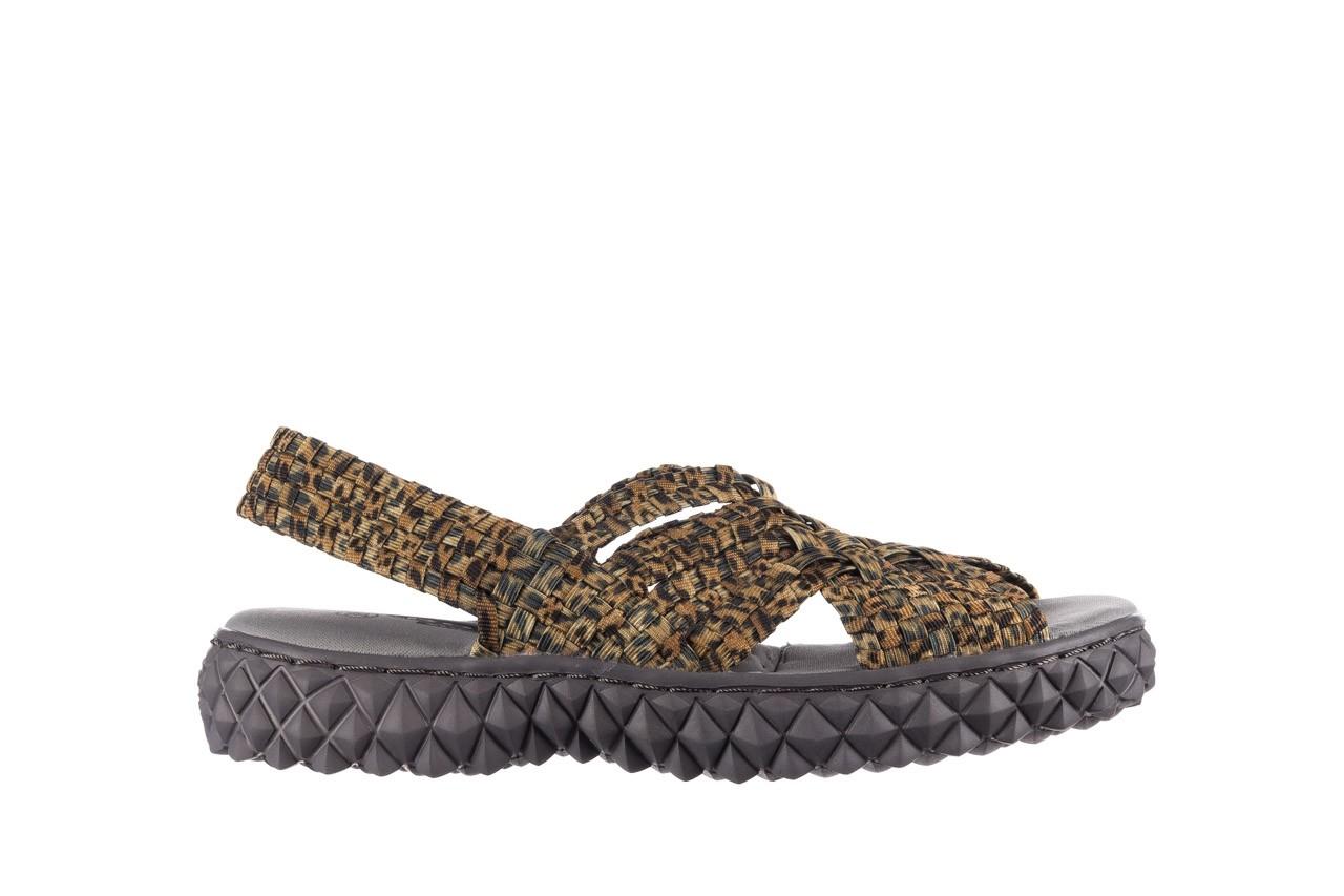 Sandały rock dakota 22 leopard, brąz, materiał 7