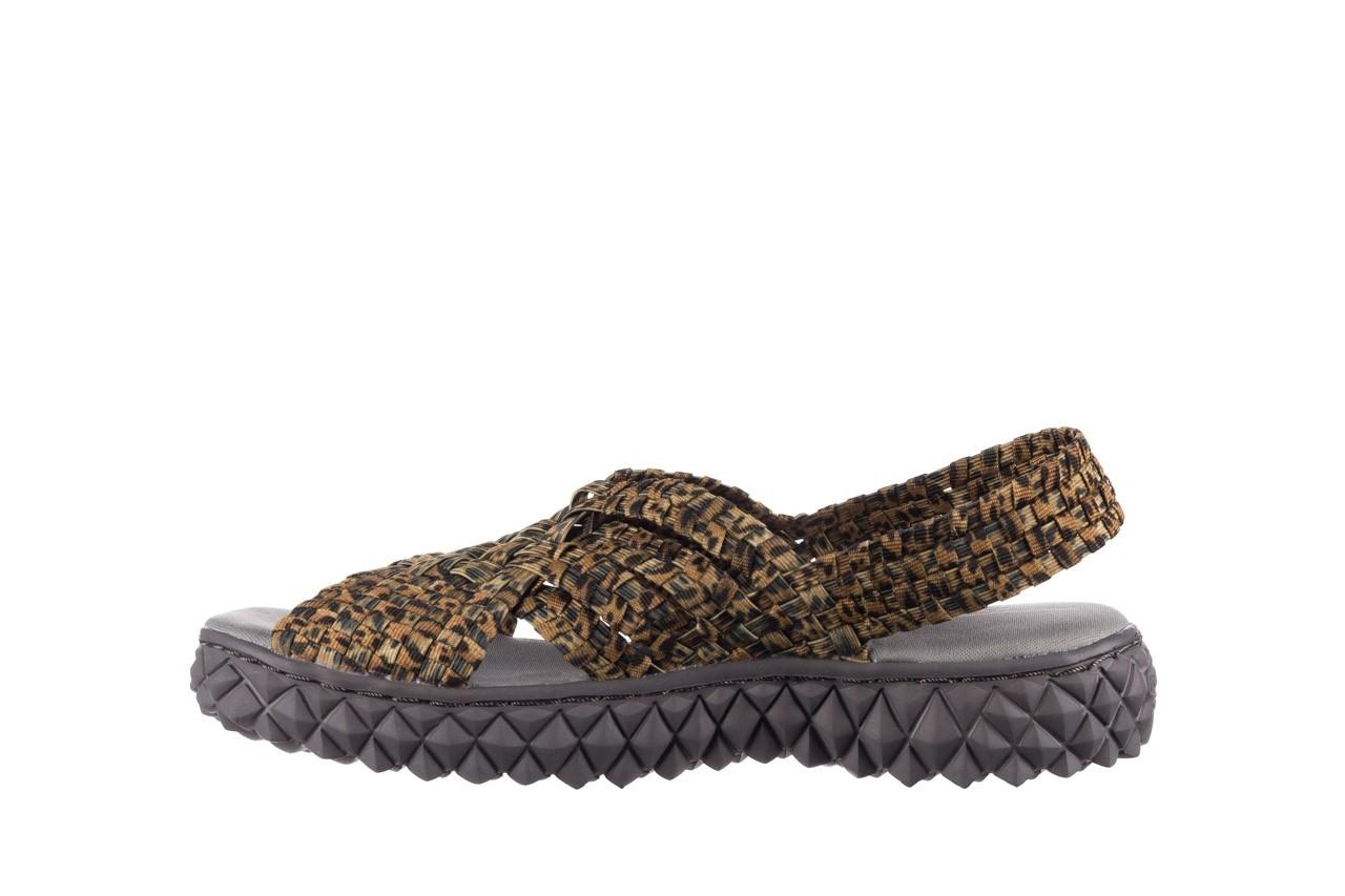 Sandały rock dakota 22 leopard, brąz, materiał 9
