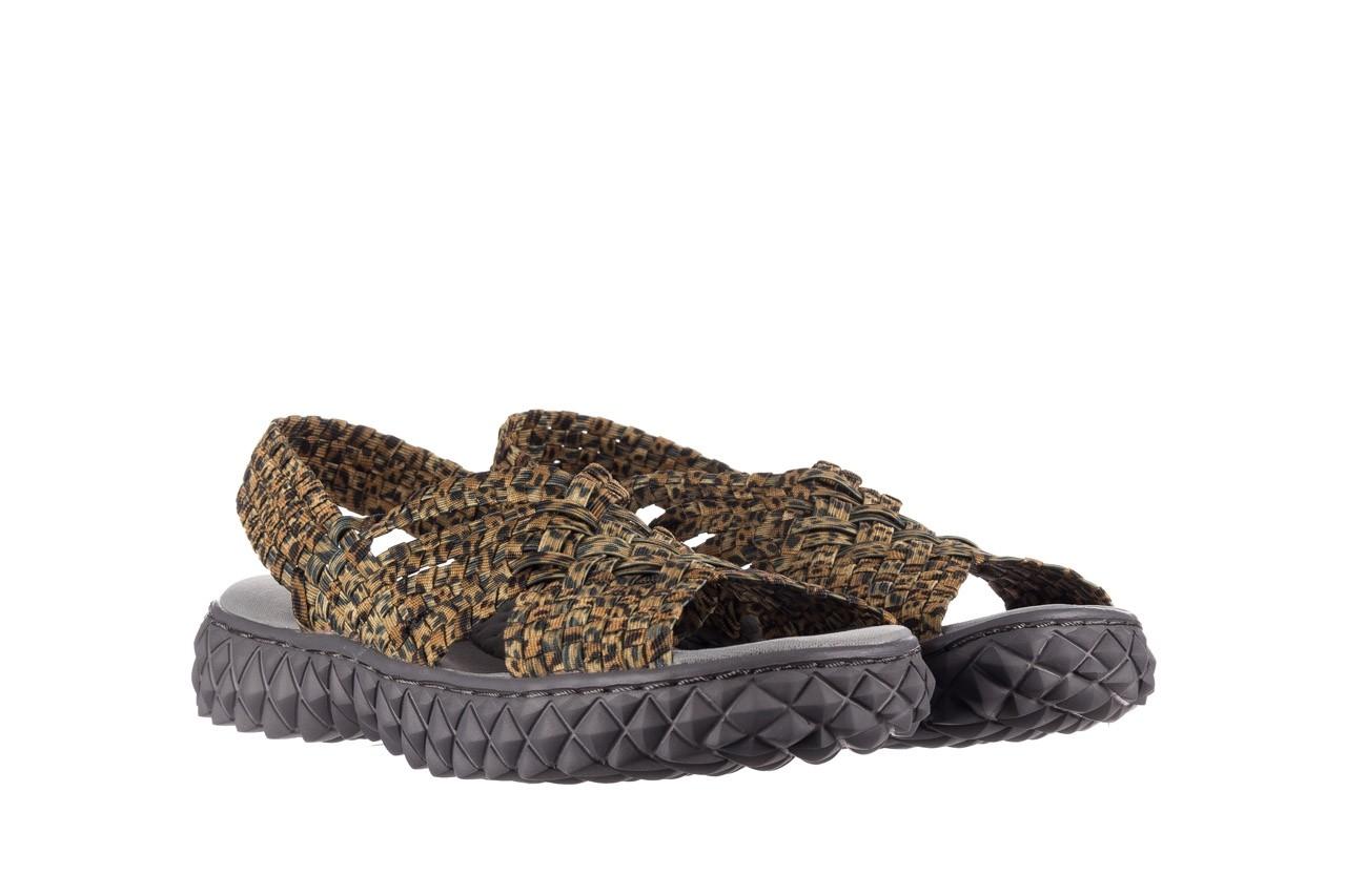 Sandały rock dakota 22 leopard, brąz, materiał 8