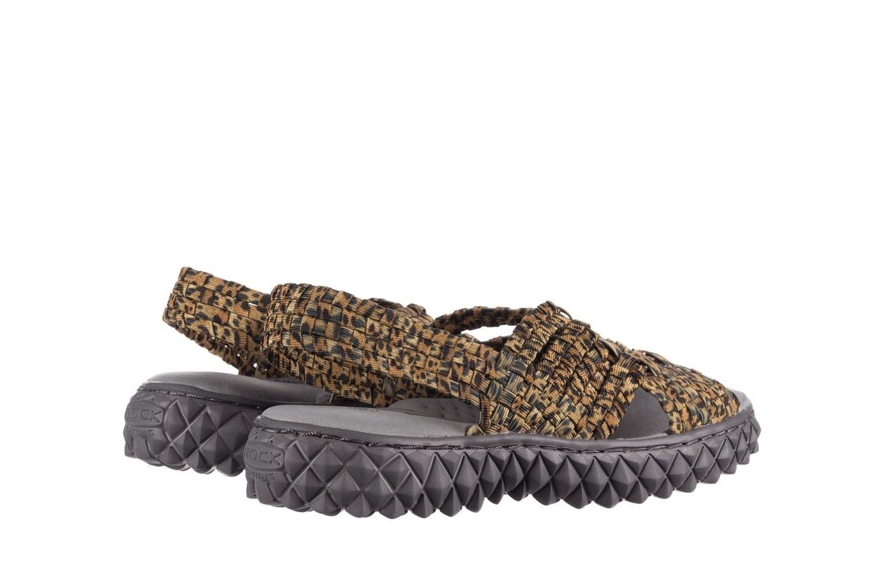 Sandały rock dakota 22 leopard, brąz, materiał 10