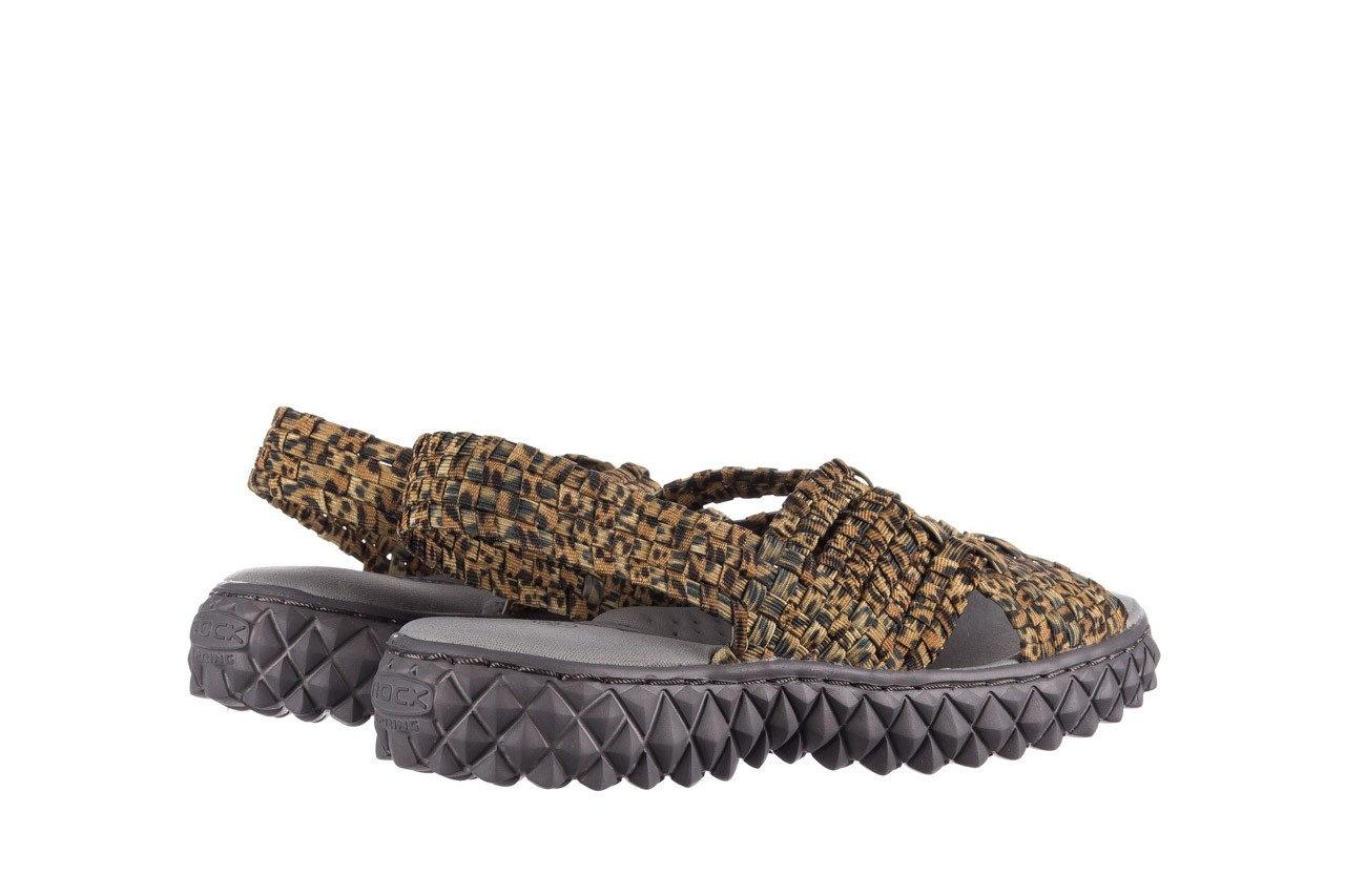 Sandały rock dakota 22 leopard, brąz, materiał - rock - nasze marki 10