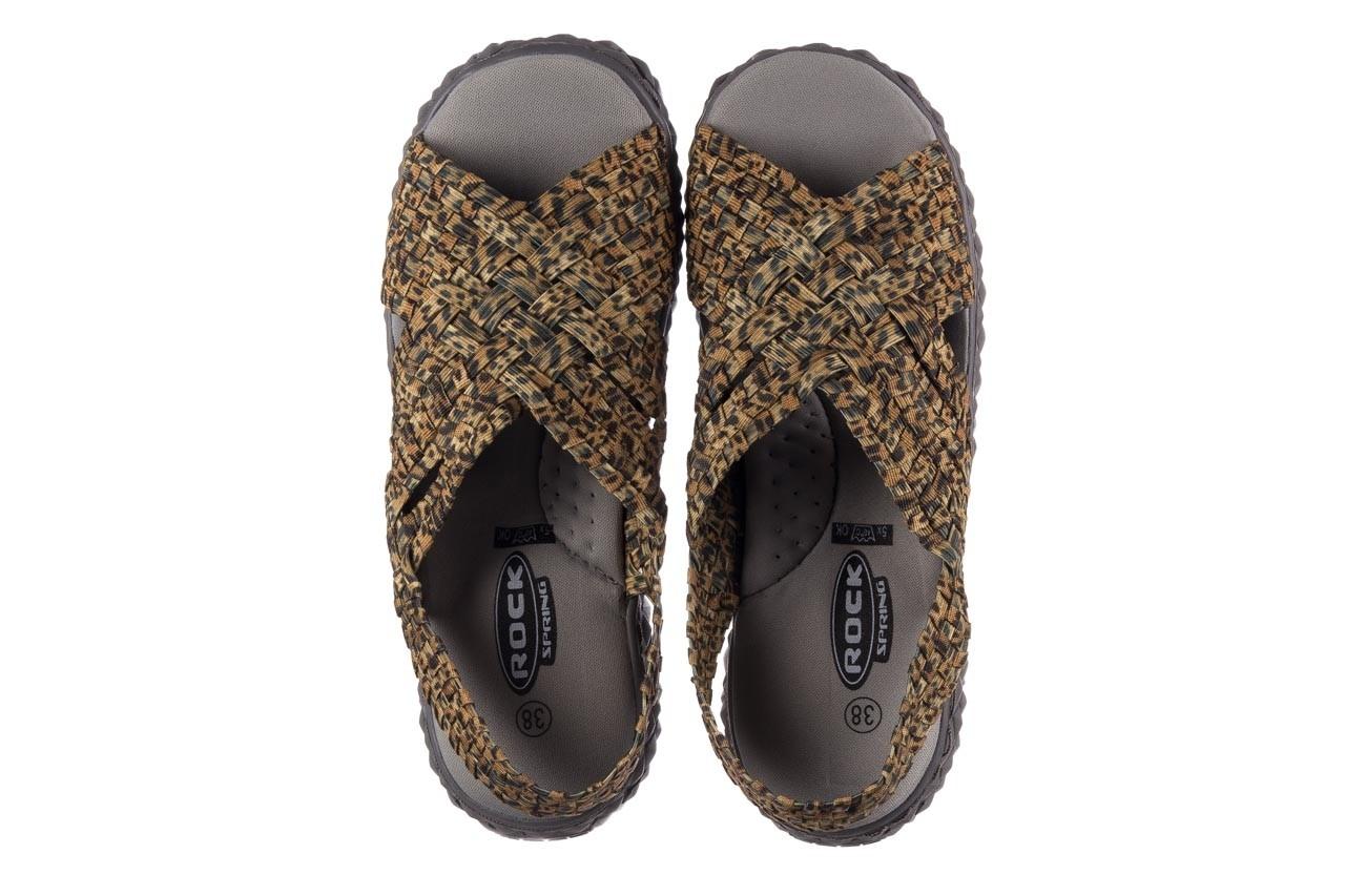 Sandały rock dakota 22 leopard, brąz, materiał - rock - nasze marki 11