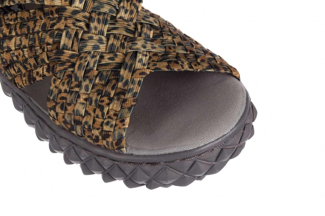 Sandały rock dakota 22 leopard, brąz, materiał 12