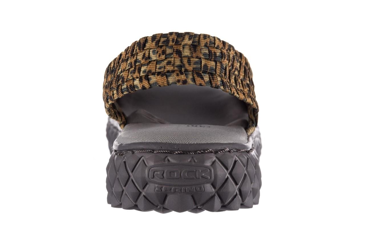 Sandały rock dakota 22 leopard, brąz, materiał 13