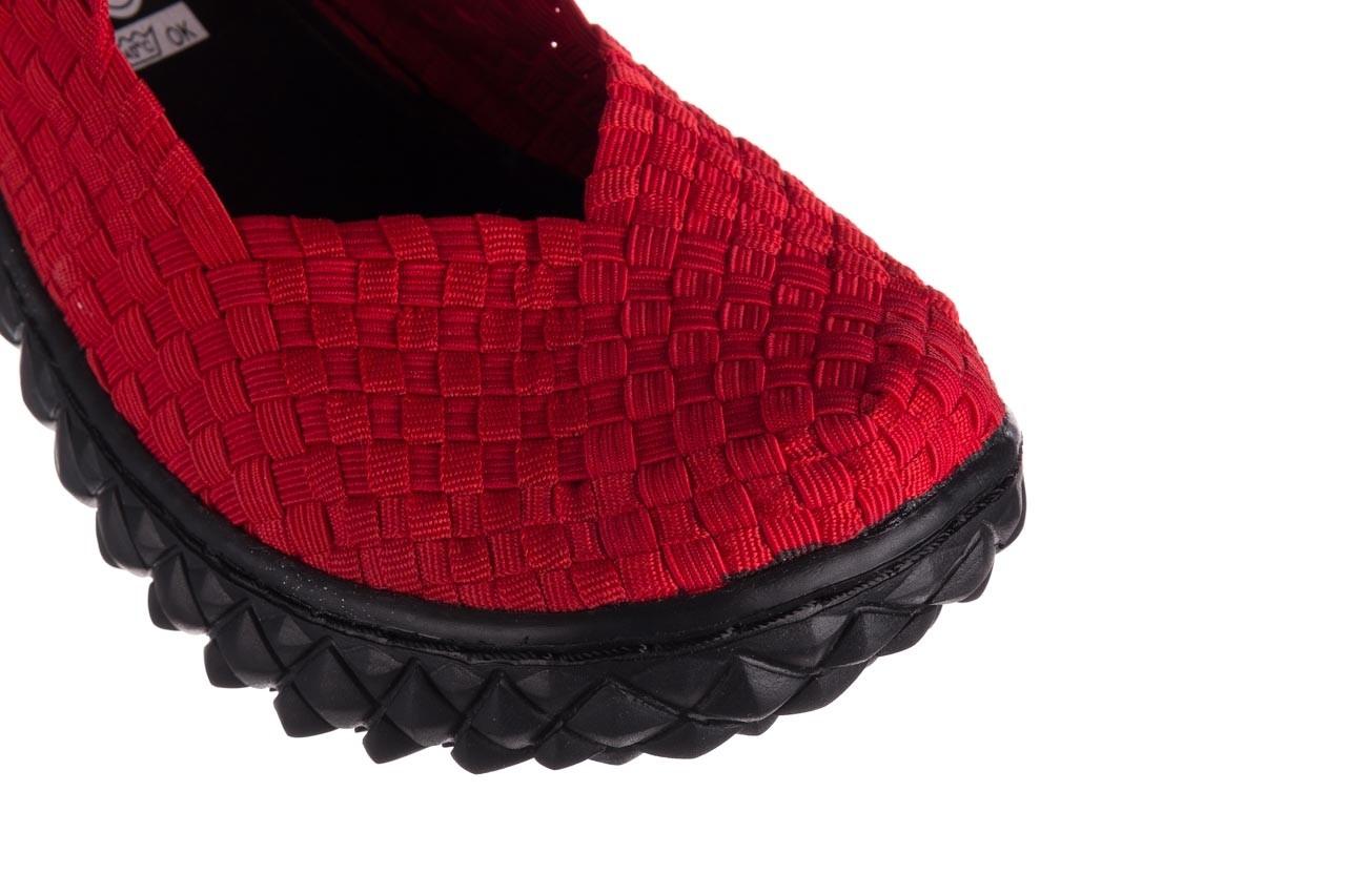 Półbuty rock over red 19, czerwony, materiał - rock - nasze marki 12