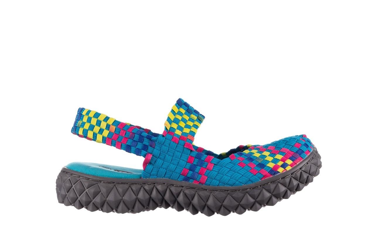 Sandały rock over sandal aqua-tutti frutti, niebieski, materiał - rock - nasze marki 7