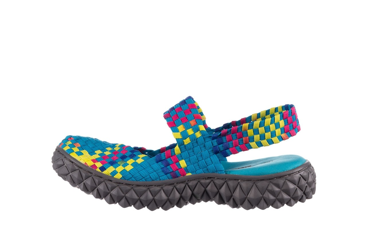 Sandały rock over sandal aqua-tutti frutti, niebieski, materiał - rock - nasze marki 9