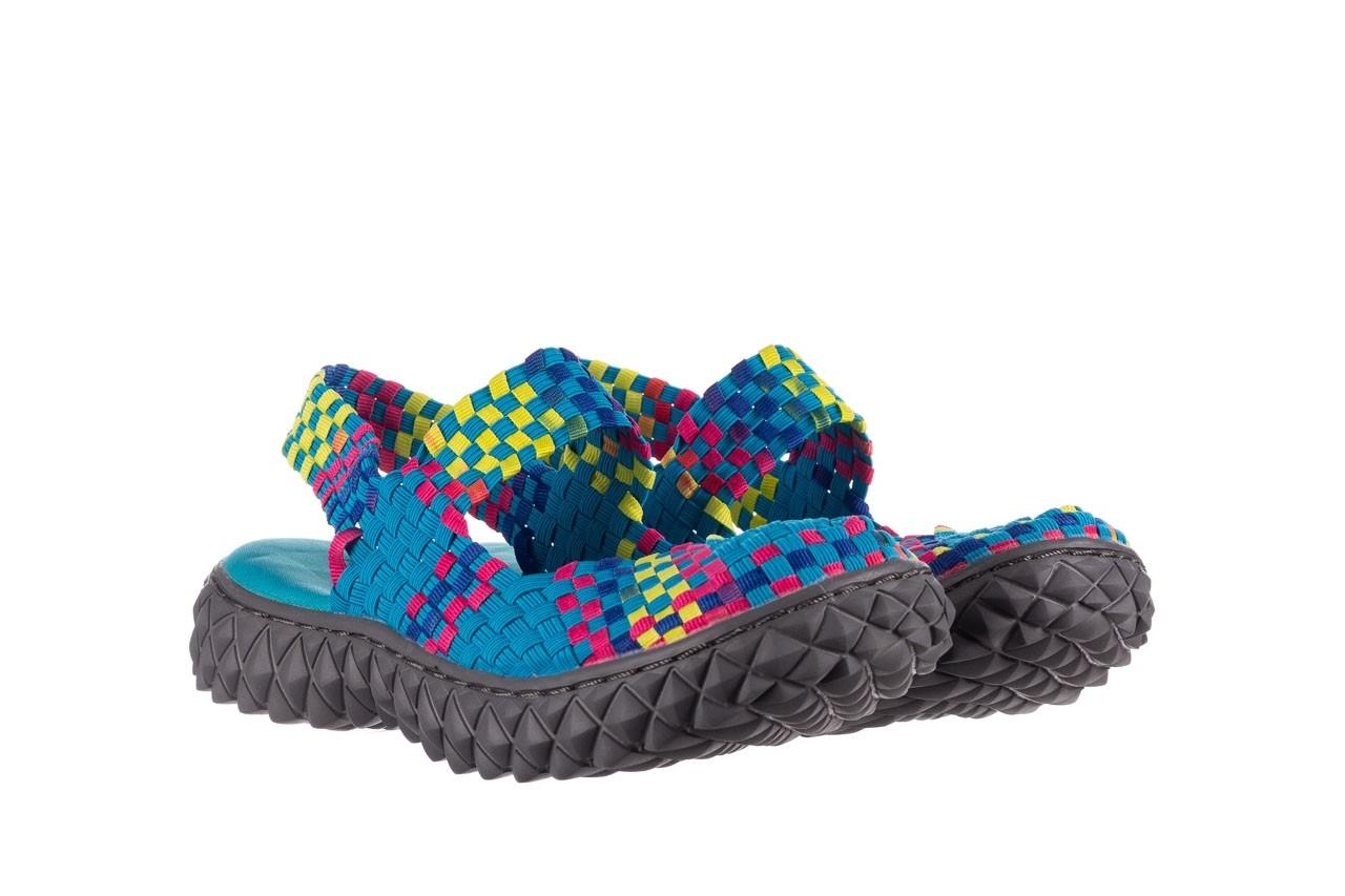 Sandały rock over sandal aqua-tutti frutti, niebieski, materiał - rock - nasze marki 8