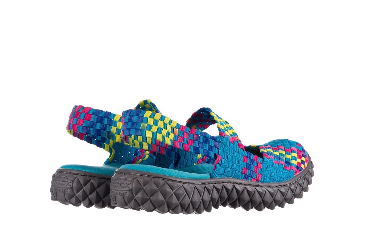 Sandały rock over sandal aqua-tutti frutti, niebieski, materiał - rock - nasze marki 10