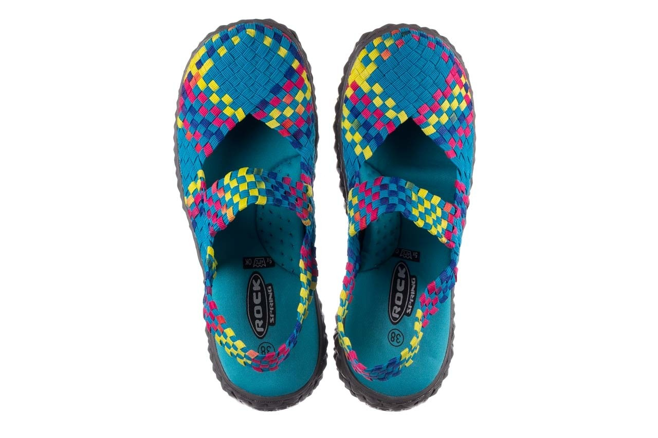 Sandały rock over sandal aqua-tutti frutti, niebieski, materiał - rock - nasze marki 11
