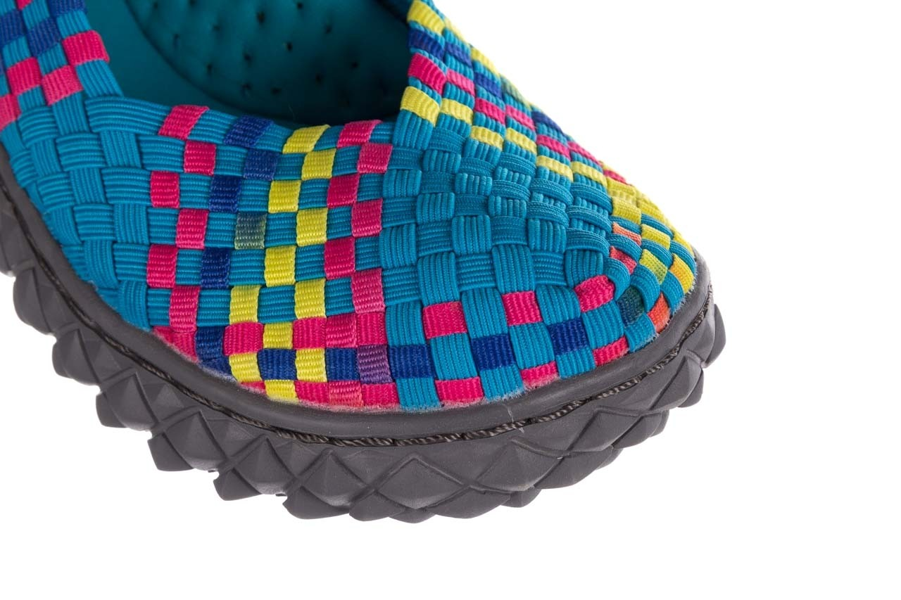 Sandały rock over sandal aqua-tutti frutti, niebieski, materiał - rock - nasze marki 12