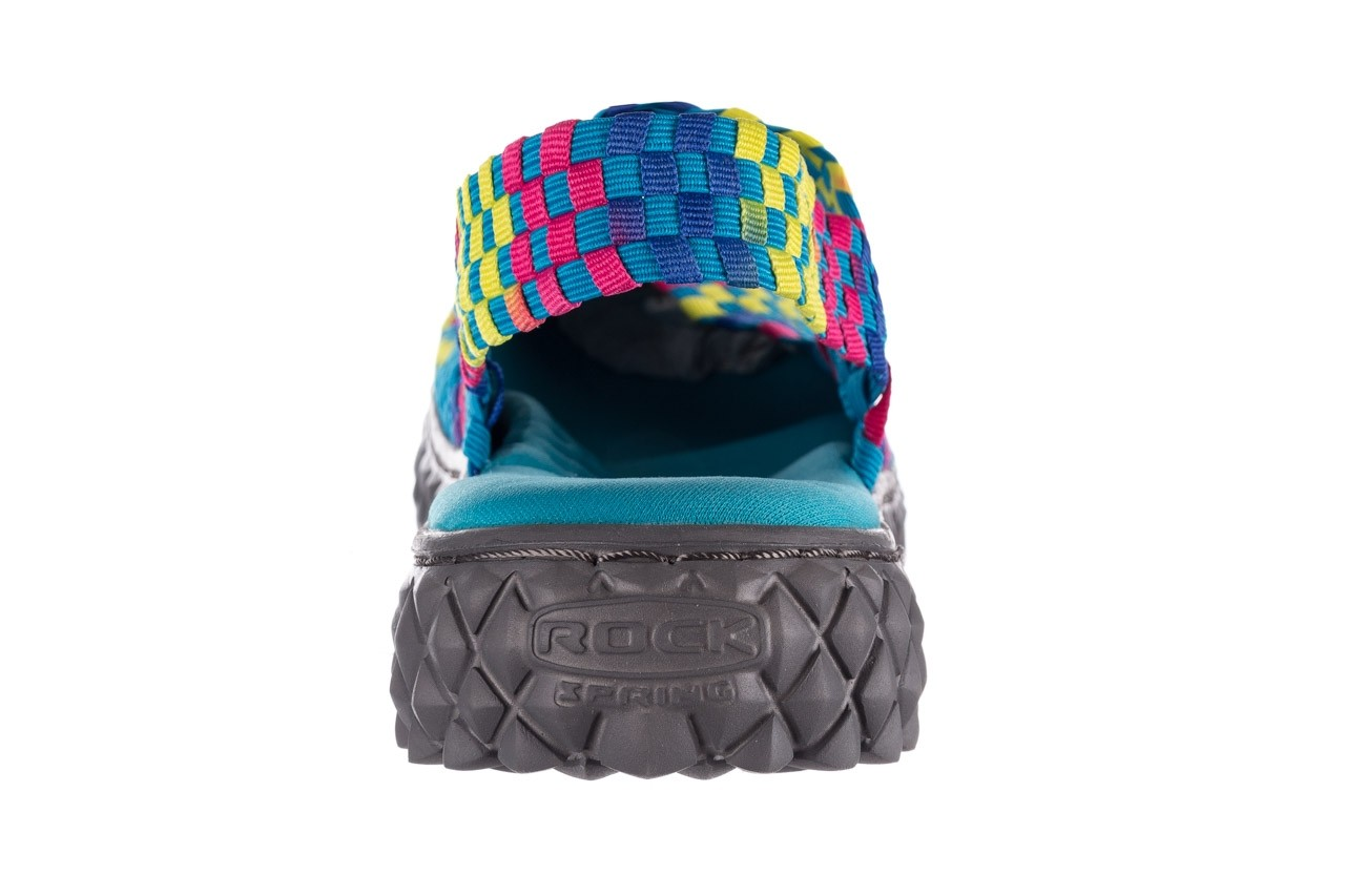 Sandały rock over sandal aqua-tutti frutti, niebieski, materiał - rock - nasze marki 13