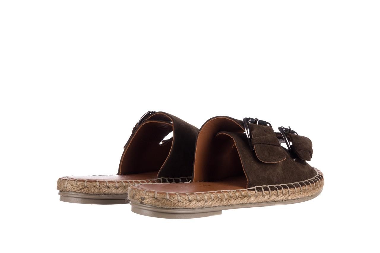 Klapki bayla-161 059 510 khaki, zielony, skóra naturalna  - klapki - buty damskie - kobieta 9