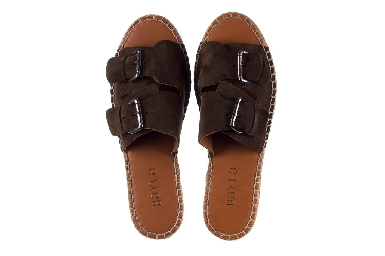 Klapki bayla-161 059 510 khaki, zielony, skóra naturalna  - klapki - buty damskie - kobieta 10