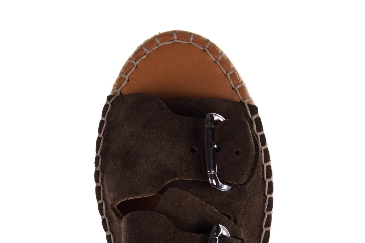 Klapki bayla-161 059 510 khaki, zielony, skóra naturalna  - klapki - buty damskie - kobieta 11