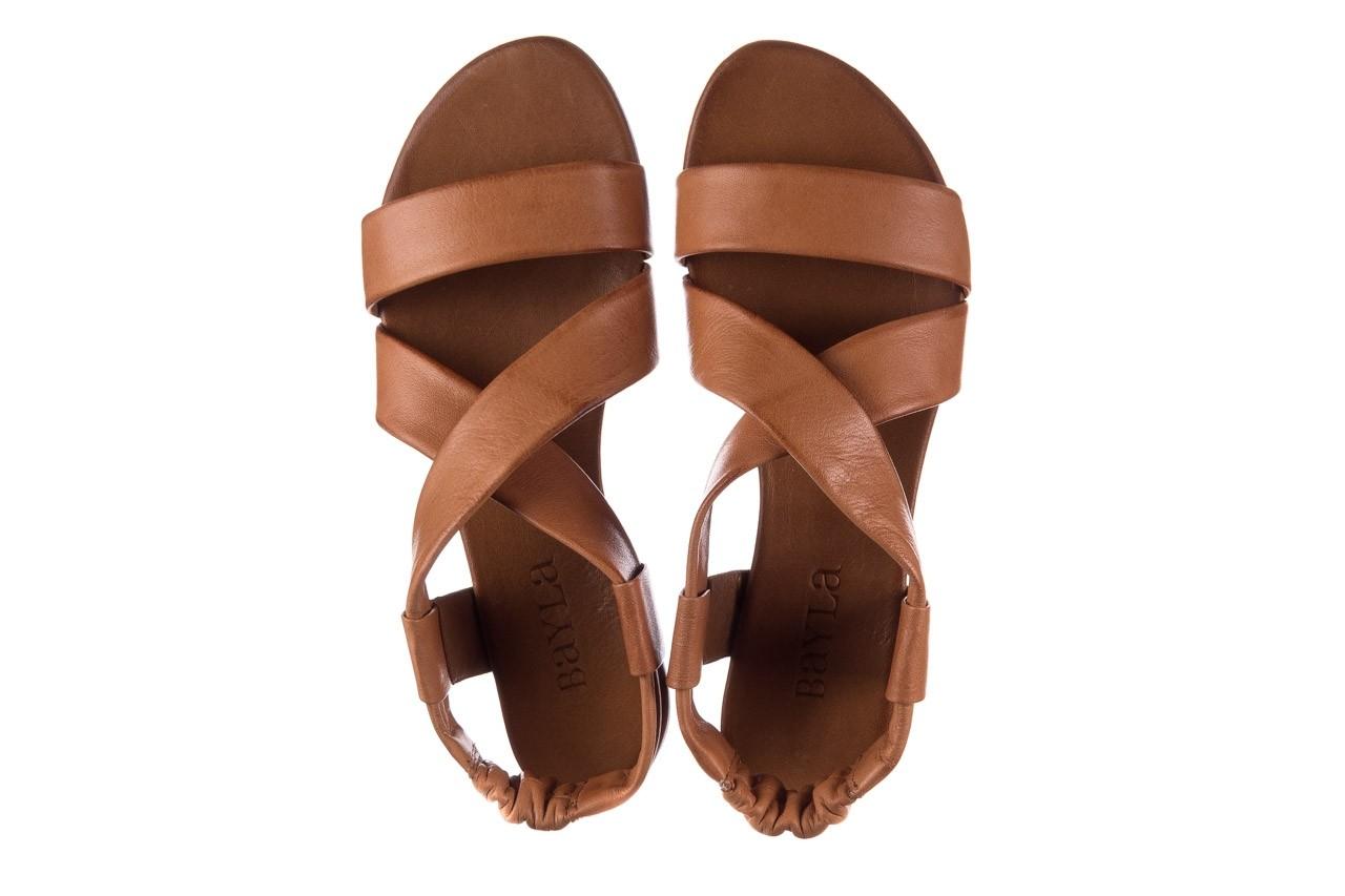 Sandały bayla-161 061 849 brąz, skóra naturalna 11