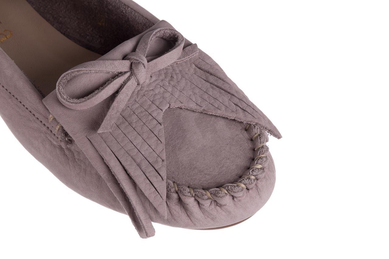 Mokasyny bayla-161 093 388 6005 srebrny szary 161043, skóra naturalna  - mokasyny i lordsy - półbuty - buty damskie - kobieta 11