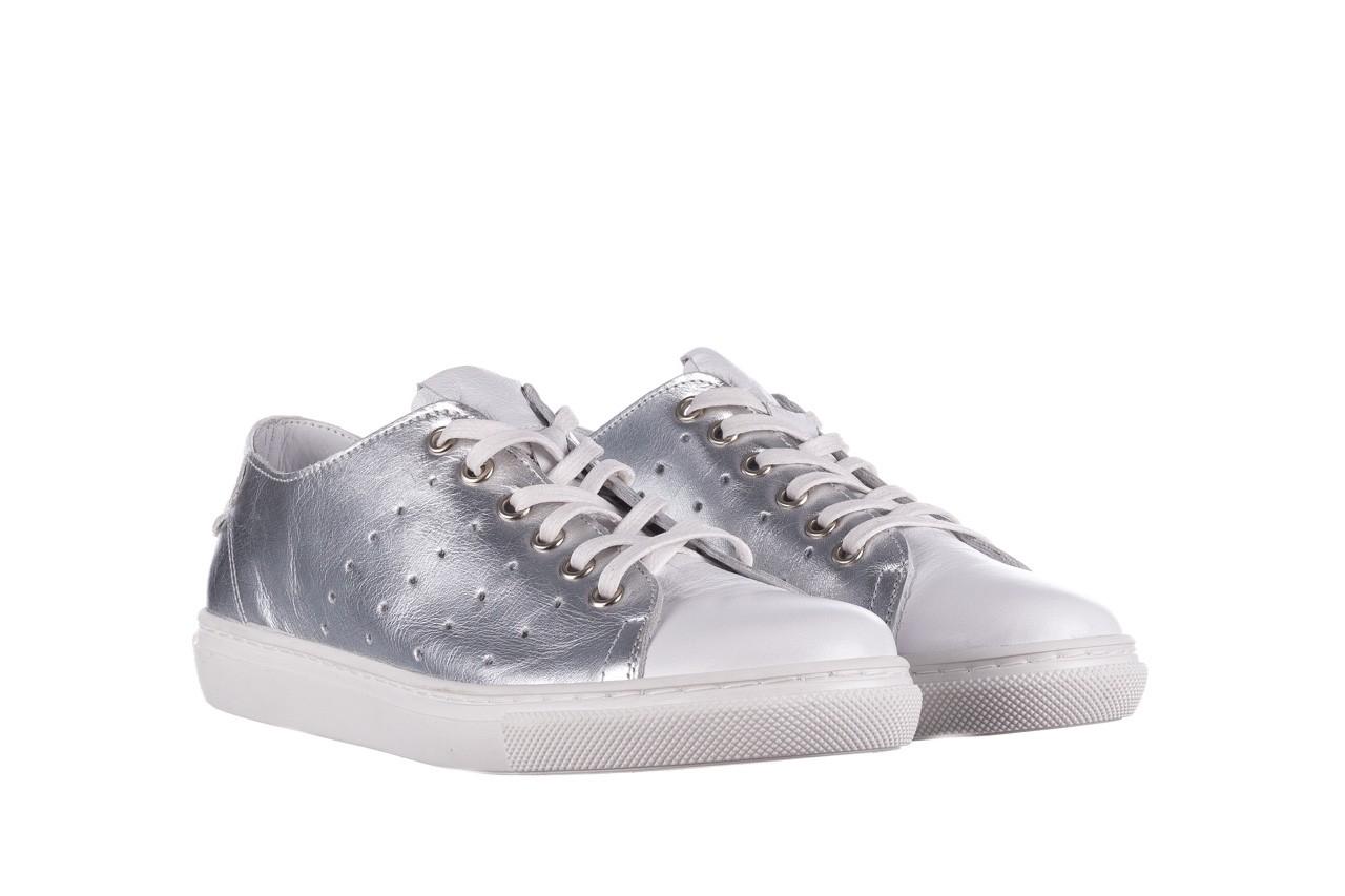 Trampki bayla-161 093 90135 srebrny biały 161048, skóra naturalna  - trampki - buty damskie - kobieta 9
