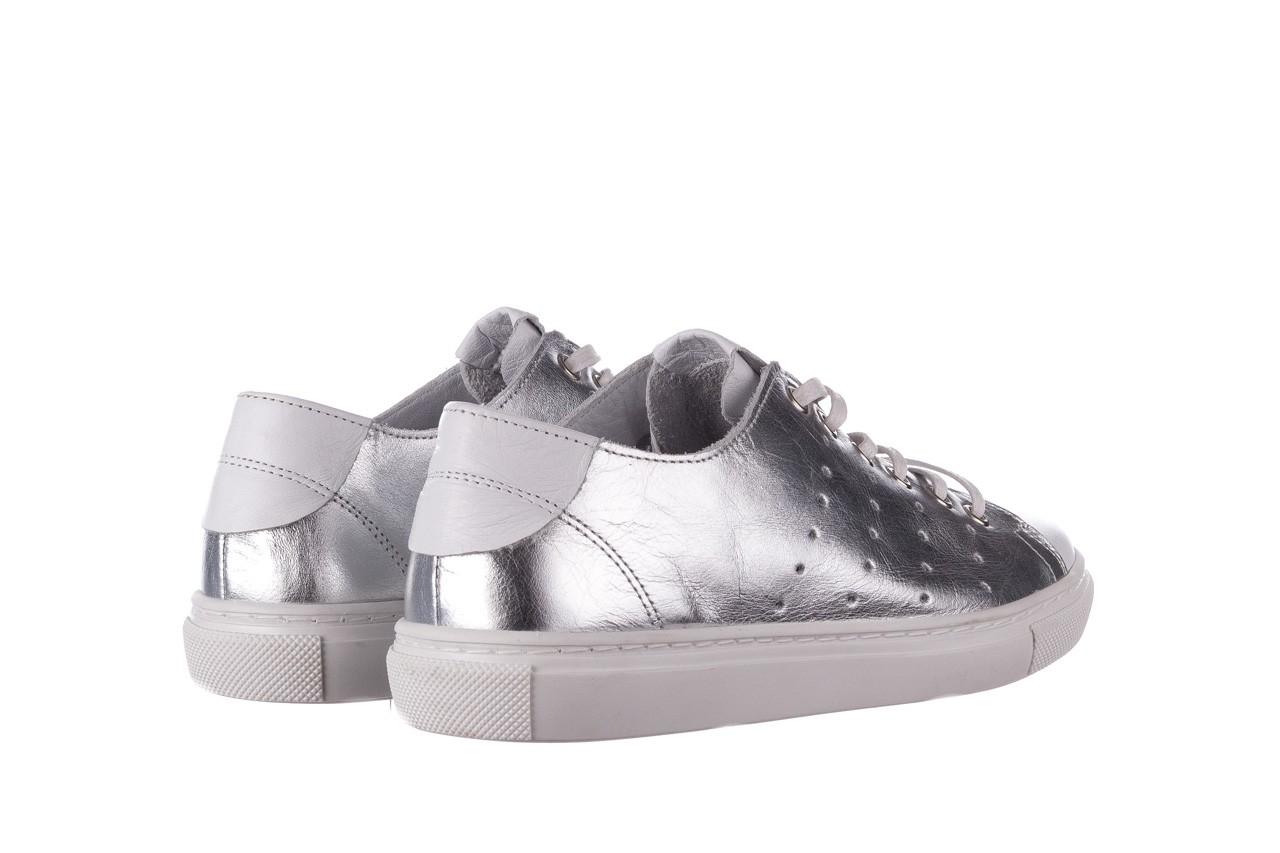Trampki bayla-161 093 90135 srebrny biały 161048, skóra naturalna  - trampki - buty damskie - kobieta 11