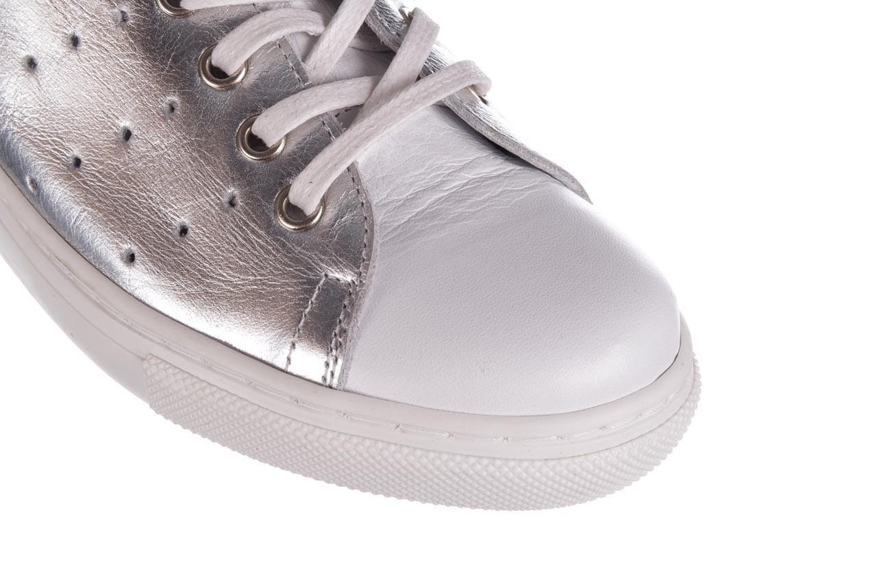 Trampki bayla-161 093 90135 srebrny biały 161048, skóra naturalna  - trampki - buty damskie - kobieta 13