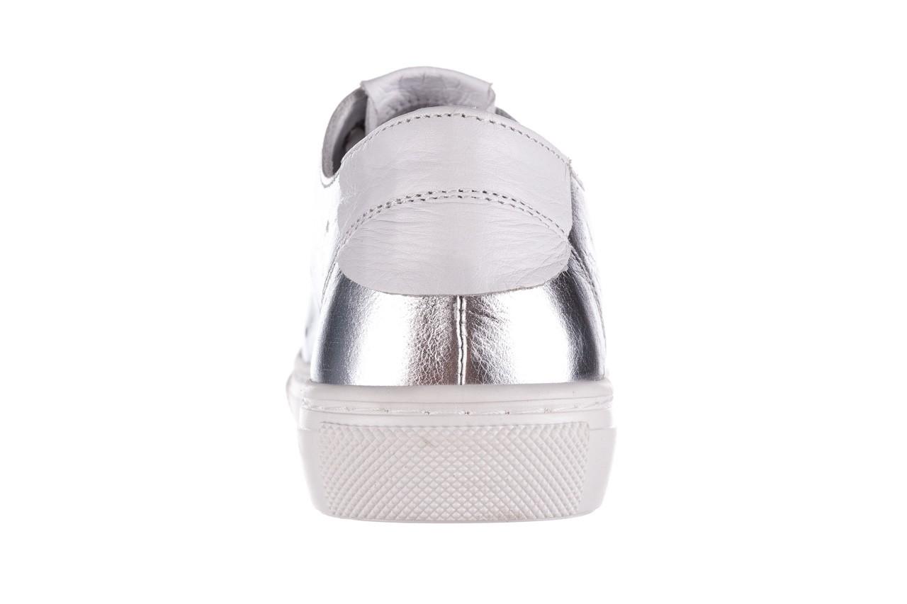 Trampki bayla-161 093 90135 srebrny biały 161048, skóra naturalna  - trampki - buty damskie - kobieta 14