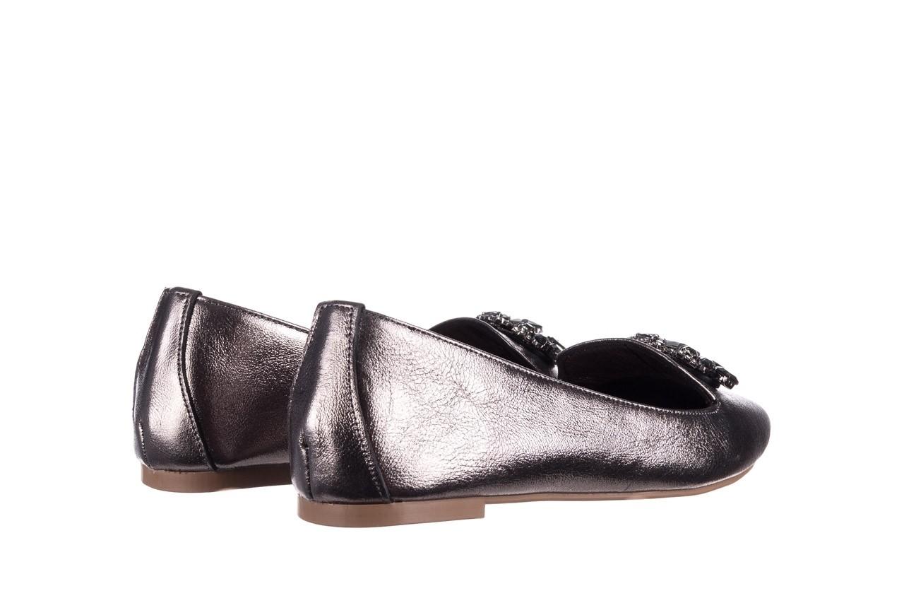 Baleriny bayla-161 093 388 4024 platinum 20, nikiel, skóra naturalna  - skórzane - baleriny - buty damskie - kobieta 9